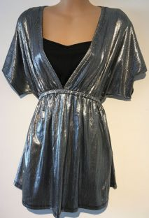 BLOOMING MARVELLOUS SILVER GRECIAN NURSING TOP NEW SIZE XL 16-18